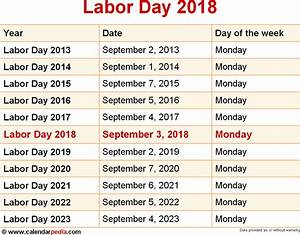 When is Labor Day 2018 & 2019? Dates of Labor Day