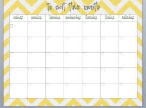Monthly Meal-Planning Calendar