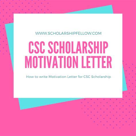 motivation letter  scholarship