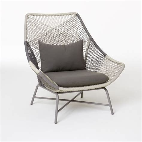 huron large lounge chair cushion gray west elm