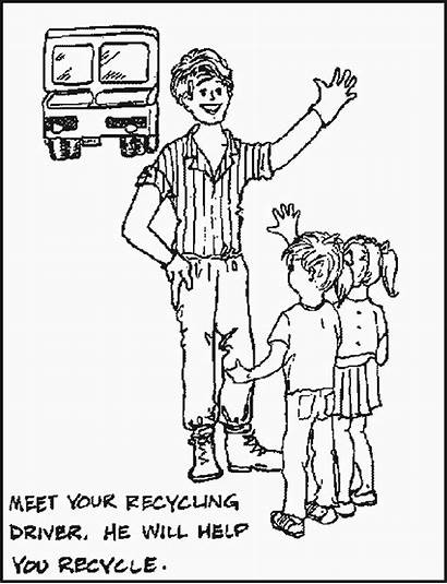 Recycling Coloring Pages Coloringbookfun