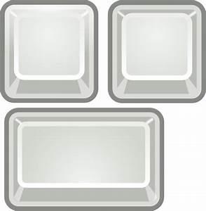 Blank Keyboard Keys Clip Art at Clker.com - vector clip ...