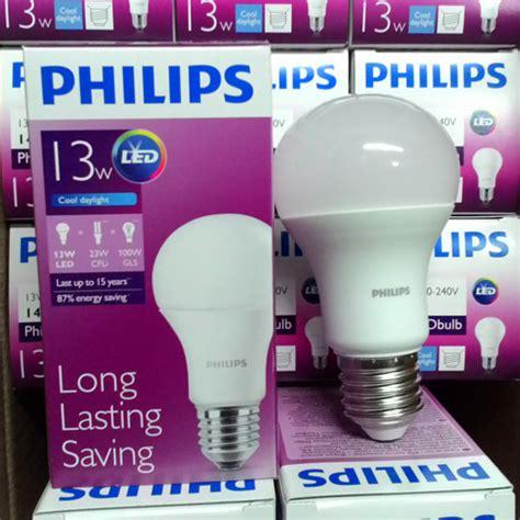 jual bohlam lu philips led bulb 13 watt putih