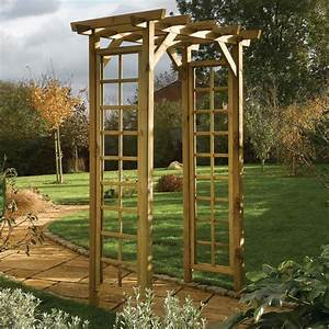 Wooden Square Top Garden Arch - Westmount Living