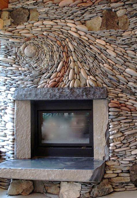 curved stone fireplace hutker architects beautiful