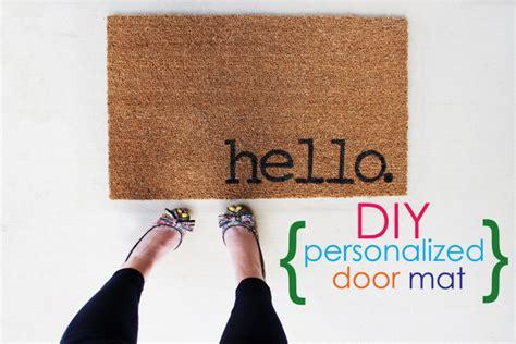 personalized door mat easy project for summer diy personalized door mats