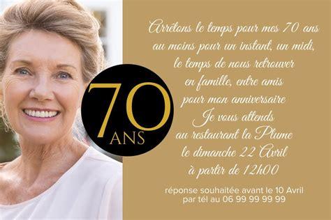 Invitation Anniversaire 70 Ans Rond Carré
