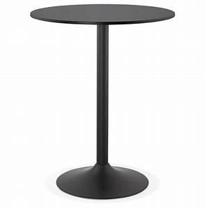 Table Haute Noire : mange debout brasilia noire 90 cm table haute design ~ Teatrodelosmanantiales.com Idées de Décoration