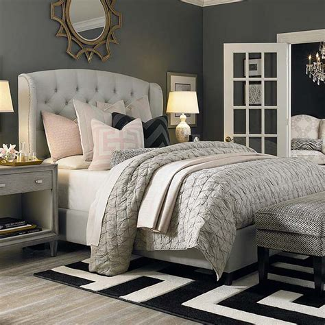 paris fabric queen bed custom upholstered beds