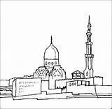 Stadt Kirche Einer Islam Colorare Religion Moschea Disegni Stambecco Ausmalbild Malvorlage sketch template