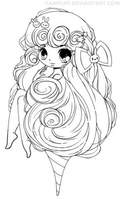 chibi cotton candy girl coloring page  printable coloring pages chibi coloring pages