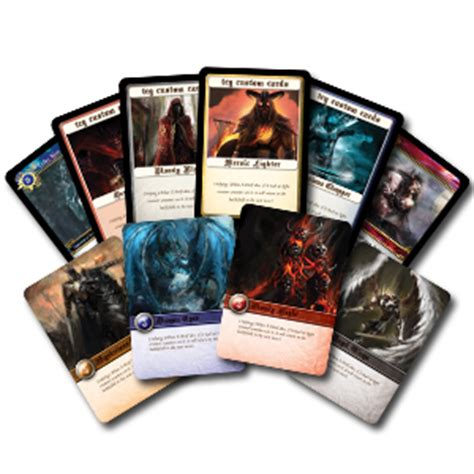 custom game cards pod printing