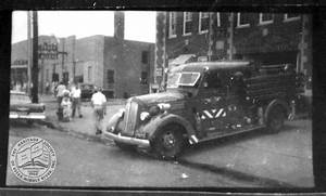 Fire engine at Essex Fire Station, 1957 – Heritage Society ...