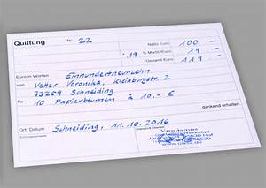Rechnung Als Privatperson Ausstellen Dienstleistung : vorlage quittung kostenloser vordruck ~ Themetempest.com Abrechnung