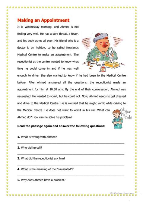 an appointment worksheet free esl printable