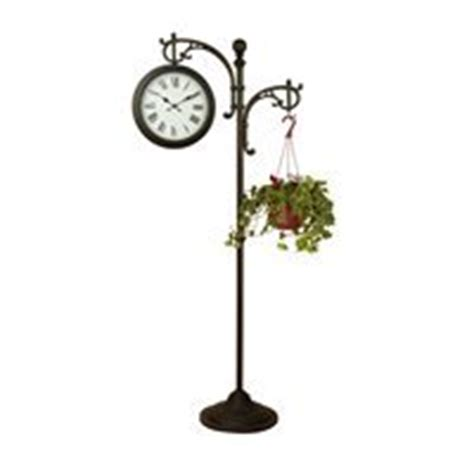 backyard creations quot 73 quot sided pedestal clock