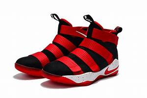 Cheap Nike LeBron Soldier 11 Basketball Shoes Black Red ...