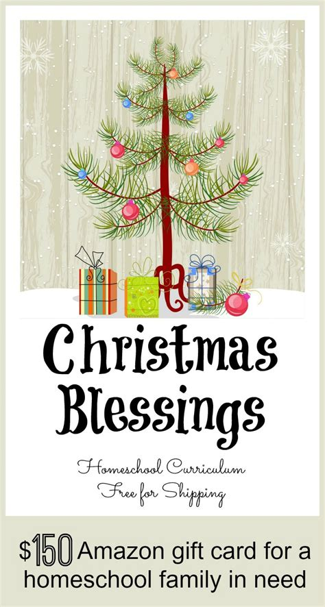 christmas gift of 150 amazon gift card for a homeschool