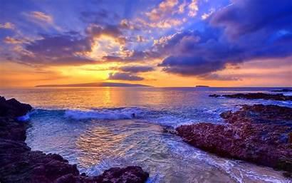 Ocean Desktop Backgrounds Computer Sunset Sea Background