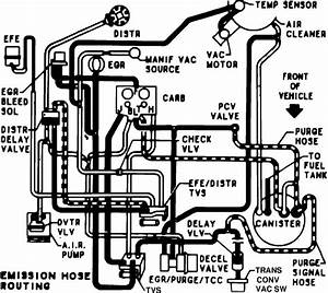 Vacuum Routing Diagram For 1984 Chevy 1 Ton Van  350 4bbl