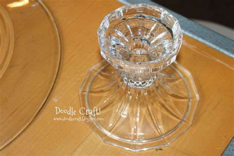 doodlecraft   giant glass cakestand easy  cheap diy