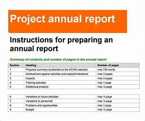 annual report template 18 download documents in pdf With end of year financial report template
