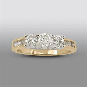 Sears jewelry gold diamond rings wedding promise for Sears jewelry wedding rings