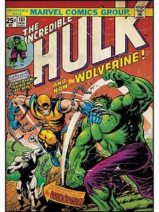 Incredible Hulk vs Wolverine Comic Book Cover Wall Accent