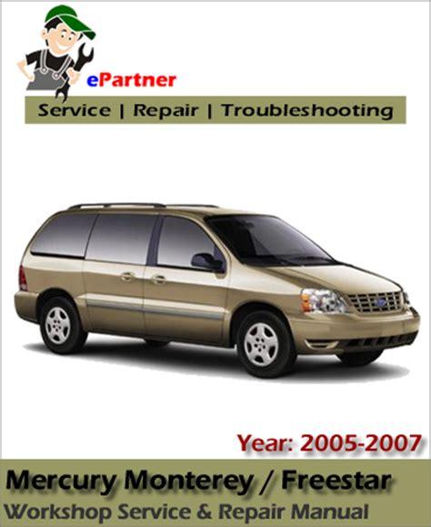 electric and cars manual 2007 mercury monterey parental controls mercury monterey 2005 2006 2007 service repair workshop manual