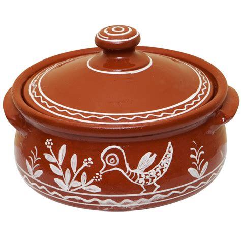terracotta cooking pots flower bird
