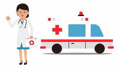 Doctor Ambulance Animation Care Health Nurses Nursing