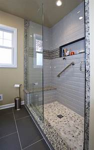 Electrical Light Fixtures White Master Bath Remodel With Walk In Shower Savvy Home
