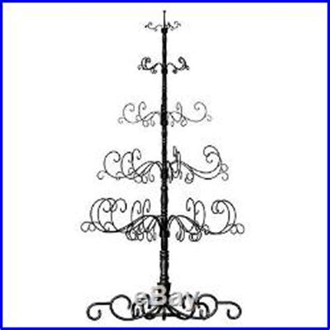 wrought iron christmas tree wire metal holder stand for holiday ornament display christmas