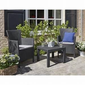 Table De Jardin Tressé : rosario salon de jardin 2 places aspect rotin tress ~ Nature-et-papiers.com Idées de Décoration