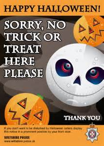 No Trick or Treat Sign