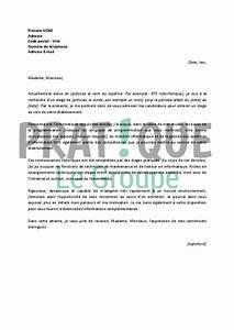 Exemple Lettre De Motivation Bts : lettre de motivation pour un stage en bts informatique ~ Medecine-chirurgie-esthetiques.com Avis de Voitures