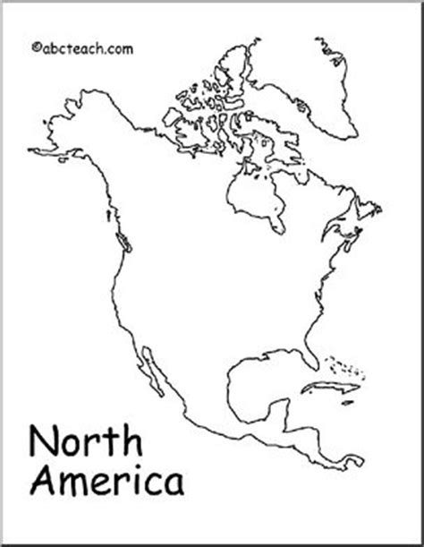 map north america outline abcteach