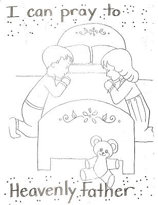 I Can Pray to Heavenly Father Coloring Page