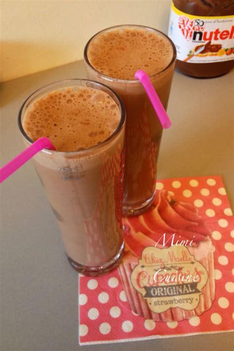 milk shake nutella recette thermomix mimi cuisine