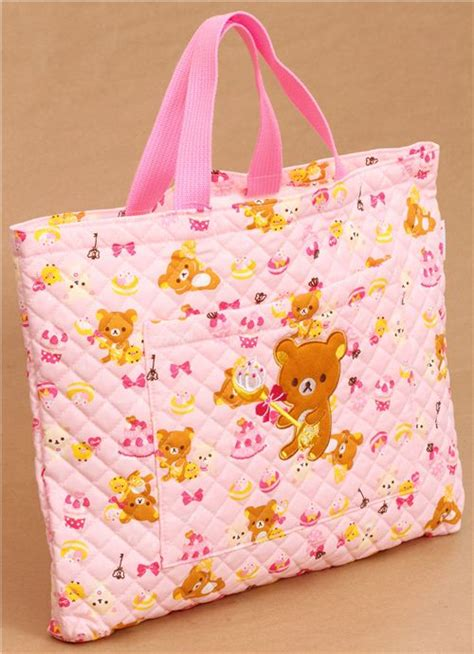 pink rilakkuma handbag san x japan shoulder bags