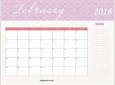 2018 Monthly Calendar Template Calendar 2018