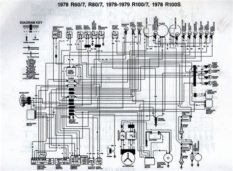 1978 bmw r80 7 wiring diagram scanned from a workshop