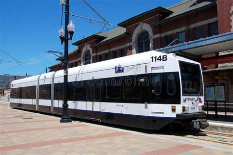 nj transit light rail newark nj nj transit light rail editorial stock