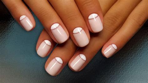 Белый френч 84 фото новинки дизайна ногтей