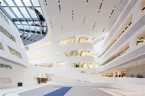 Learning And Library Center Der Wirtschaftsuniversitaet Wien by Zaha Hadid Library And Learning Center Wu Cus Vienna