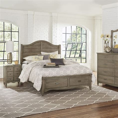 Shiplap Bed by Shiplap King Bed 401 4 1 American Maple Rustic Grey