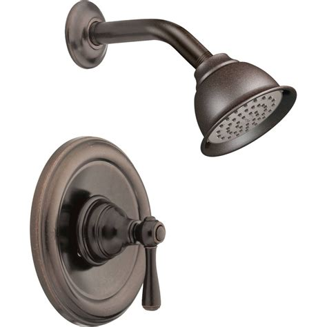kitchen wall faucet moen t2112orb kingsley rubbed bronze one handle shower