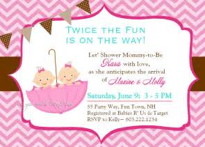 Baby Shower Invitations Twins Gallery