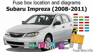 Fuse Box Location And Diagrams  Subaru Impreza  2008