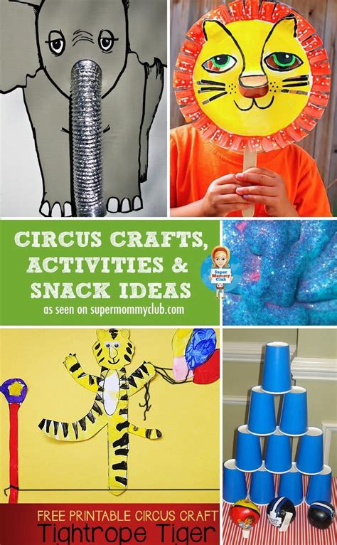 best 25 circus activities ideas on preschool 329 | b5dcc5ee8106563afaa7350006b1ee45 circus crafts preschool fun crafts